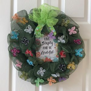 All Occasion Butterfly Wreath